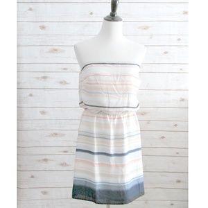 White House Black Market Strapless Chiffon Dress